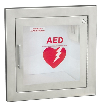 Semi Recessed Stainless Steel Aed Cabinet Guaranteed