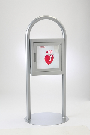 Free Standing AED Cabinet With Alarm. Zoom