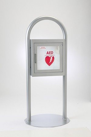 Free Standing AED Cabinet with Alarm