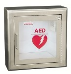 Stainless Steel Surface Mount Wall AED Cabinet